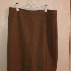 Halogen Tan Pencil Skirt, size 12